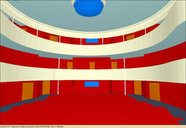 Modell des Zuschauersaales / Model of the audience hall
