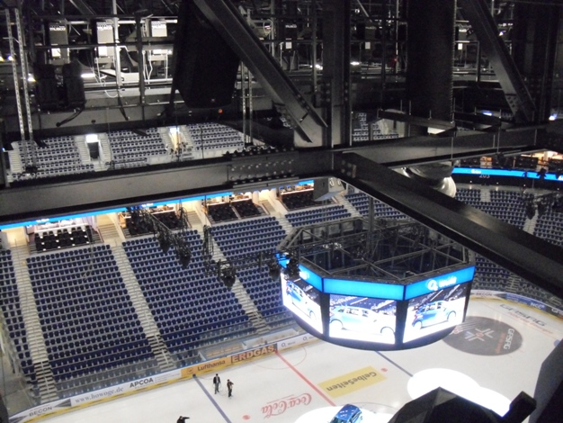 Blick in die Arena, von Regie aus / interior view in Arena bowl, from control booth