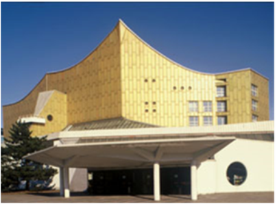 Eingang zur Philharmonie / Entrance to the Philharmonic hall