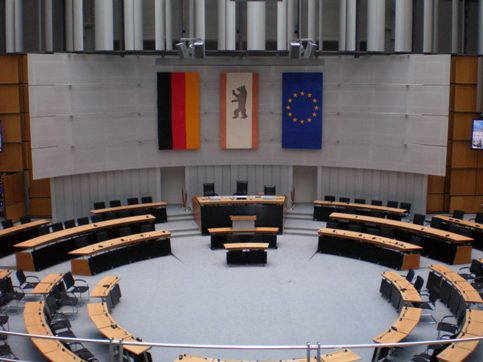 Innenansicht Plenarsaal / Main Hall inside view