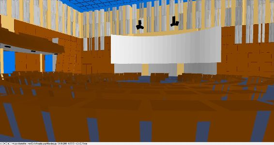 Blick in das Simulationsmodell / inside view of simulation model