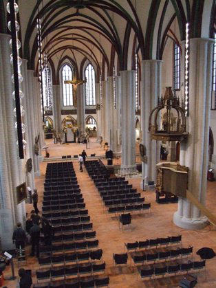 Blick in das Kirchenschiff / view in the church nave