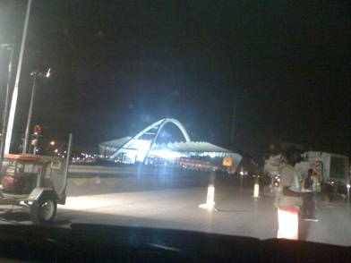 Durban Stadion bei Nacht / Durban stadium at night