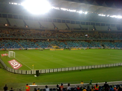 Durban während eines Spiels, März 2010 / Durban football game in March, 2010