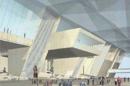 Empfangshof Grand Egyptian Museum / Entrance Court Grand Egyptian Museum