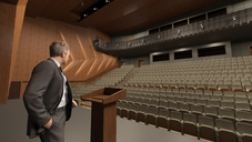 Rendering Kongresssaal Bühne / Congress hall Stage